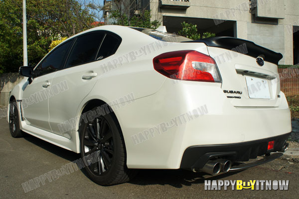 New 2015 Matt Black Subaru Wrx Sedan Adh Trunk Rear