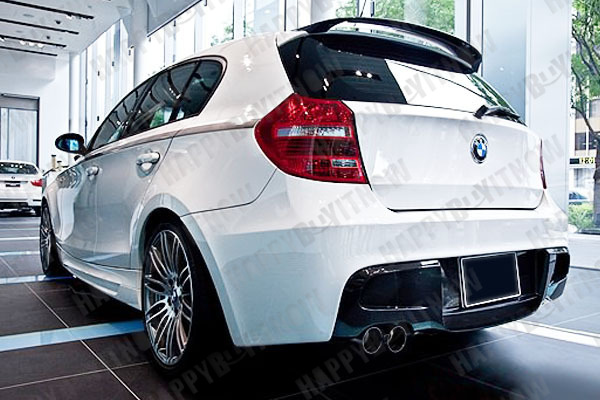 04 11 painted bmw e87 e81 p roof trunk boot spoiler wing. Black Bedroom Furniture Sets. Home Design Ideas