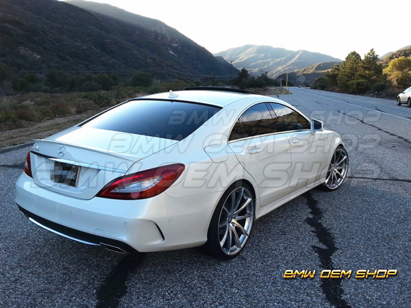 AMG TYPE TRUNK SPOILER 11-17 COLOR MERCEDES BENZ CLS W218 F-DESIGN WINDOW ROOF