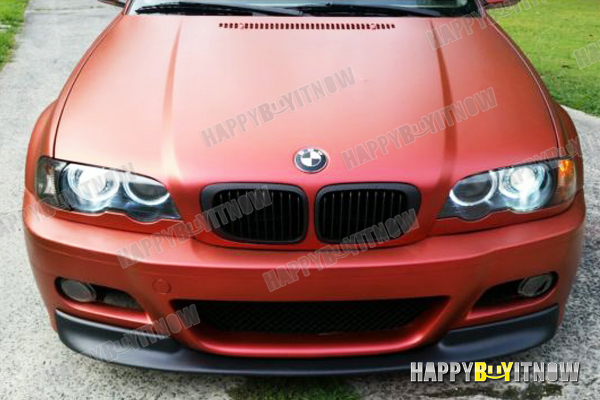 01 06 Painted Matte Black Bmw E46 M3 Csl Type 2 Front Apron Lip