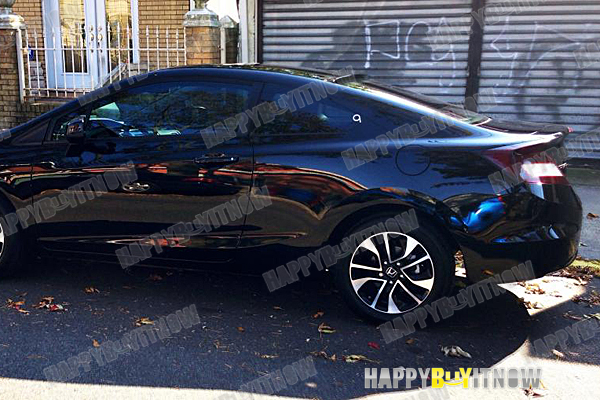 ALL COLOR PAINTED 12-15 FOR HONDA CIVIC 9th 2Dr COUPE K-STYLE REAR ROOF SPOILER