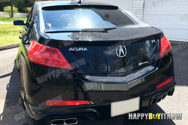COLOR PAINTED NHP Crystal Black Pearl Roof Spoiler For ACURA TL - Acura tl spoiler