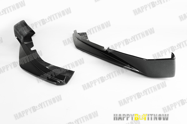 NEW PAINTED MATTE BLACK MASERATI GT COUPE MC type FRONT SPLITTER PAIRS